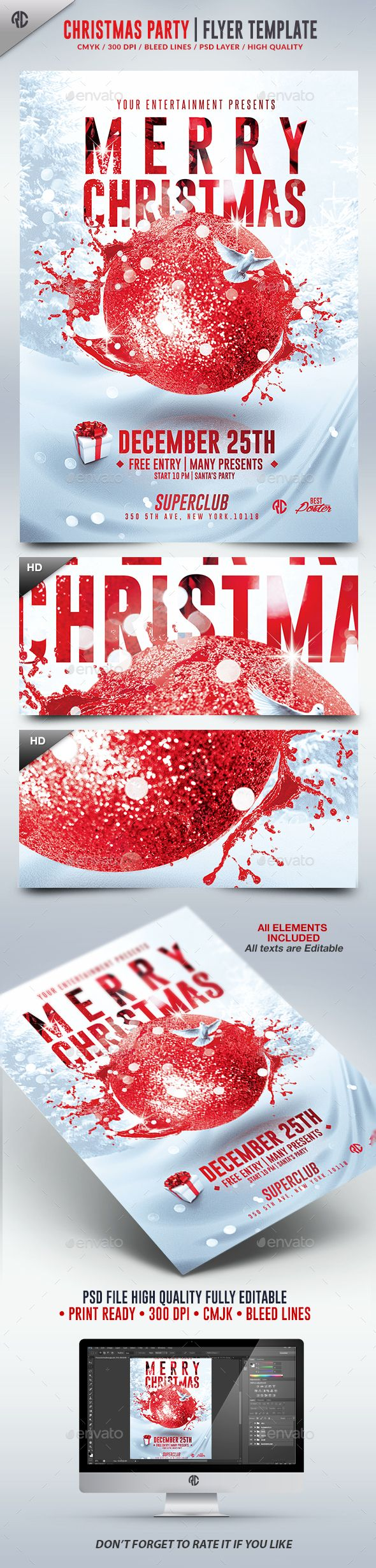 17 best ideas about advertising flyers photography christmas party 2016 psd flyer template