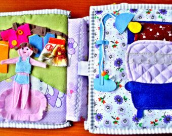quiet book soft toy for girl funny games gift for your little