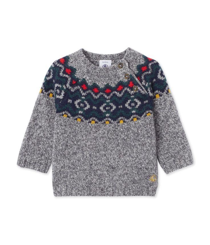 Pull jacquard bébé garçon en laine mélangée gris Subway Chine. Retrouvez notre gamme de vêtements et sous-vêtements pour bébé, enfant, mode femme et homme.