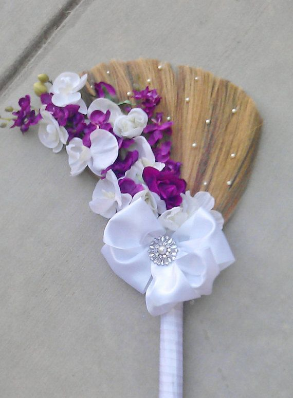 Wedding Broom-Jumping Broom 'The FeFe' Big by BroomsBasketsNBrides