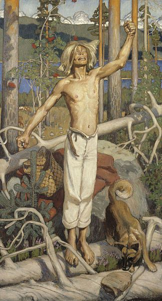 Kullervo was described as a handsome man, with golden locks. He suffered irredeemably tragic faith in the Kalevala.