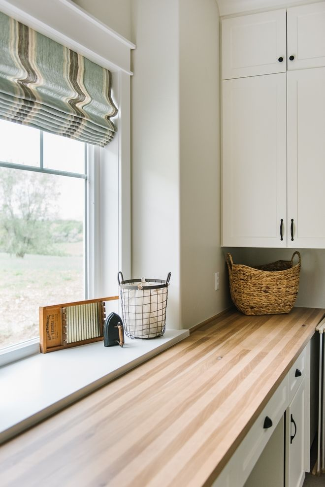 Laundry Room Butcher Block Countertop I Thought That Butcher Block