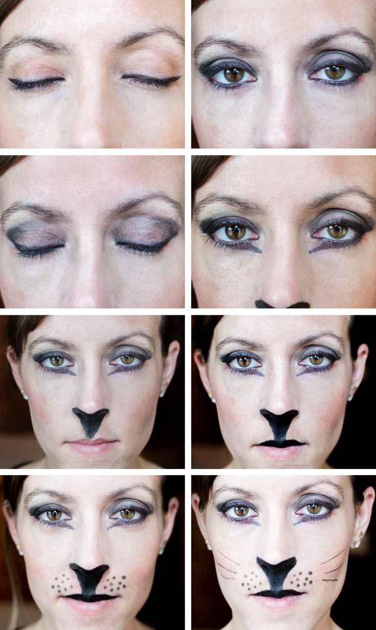 Easy Cat Makeup Tutorial for a Last Minute Halloween Costume