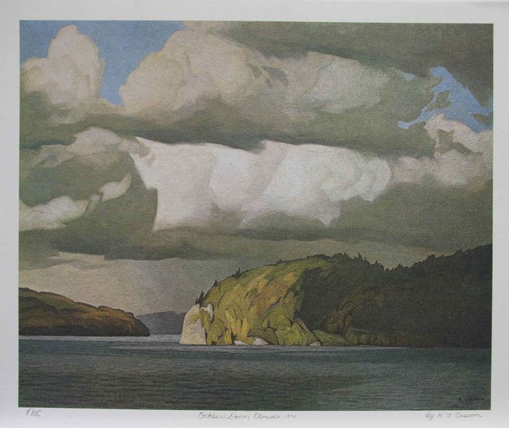 A J Casson . October Storm Clouds, 1974