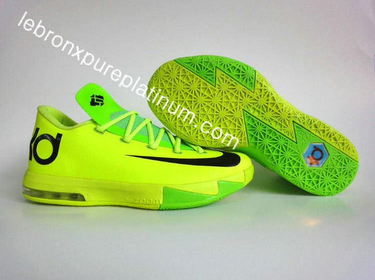 95b89cdc4067 65% Discount Nike Kevin Durant Cheap sale 2013 KD 6 Neon Green D ...