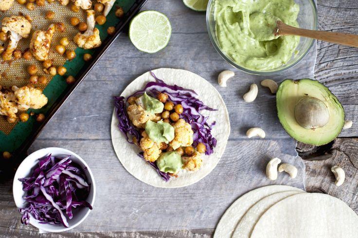Tacos au chou-fleur et pois chiches croustillants | Recette