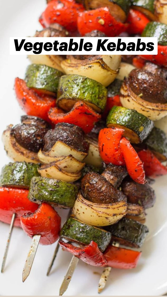 Grilled Veggie Kabobs, Vegetable Kebabs, Veggie Skewers, Vegetable Ideas, Veggie Kabob Marinade, Vegetable Recipes, Vegetable Appetizers, Healthy Grilling Recipes, Kabob Recipes