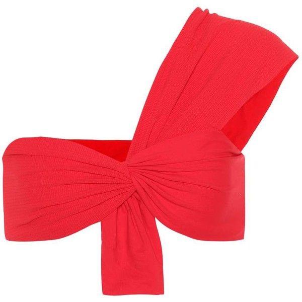 Marysia Venice Bikini Top ($160) via Polyvore featuring swimwear, bikinis, bikini tops, red, tankini tops, swim tops, swimsuit tops, red bikinis and marysia swim bikini
