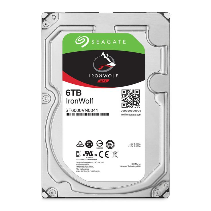 "Disque dur interne Seagate IronWolf 6 To Disque dur 3.5"" 6 To 7200 RPM 128 Mo Serial ATA 6 Gb/s pour NAS"