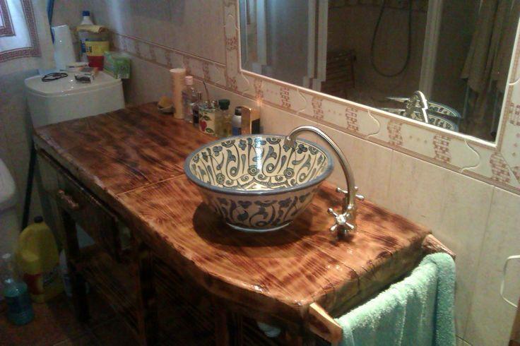 Muebles De Baño Yecla:Mueble de cuarto de baño con cajón y lavabo tipo árabe (Marruecos