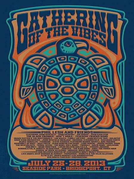 John Warner Studios  http://johnwarnerstudios.com/home/ Contact: john@johnwarnerstudios.com #poster #bandposters #festivalposters #vintage #colorful #hippie #60s