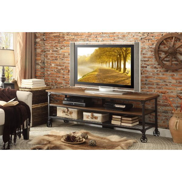 65 Inch Industrial TV Stand - Iron Works