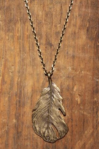 Love Comma Smith Feather Necklace.