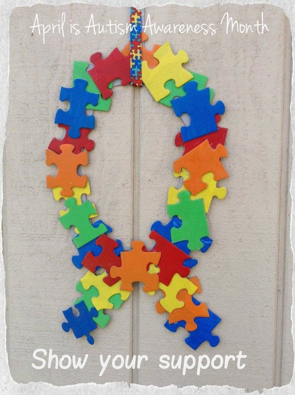 Show your support for autism awareness by creating this for Craft ideas for autistic students