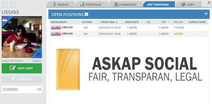 Apakah ada yang ingin mengikuti posisi Traders Lissa93?