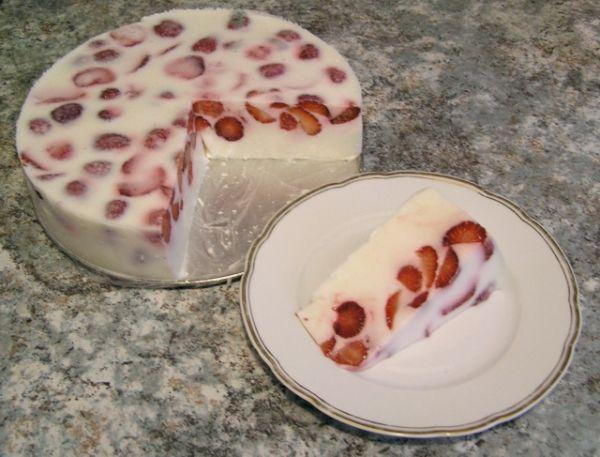 Tvarohový dort (želatinový)