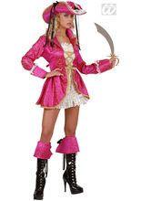 Piratin Damenkostüm pink-weiss-gold, aus unserer Kategorie #Piratenkostüme. Diese #Piratenbraut ist perfekt für alle Mädels, die Pink lieben. Die pinke Piratin sorgt einfach auf jeder Faschingsparty für Aufsehen. Das fesche Damenkostüm ist der Hingucker schlechthin und wird auch als Gruppenkostüm ein echter Erfolg.