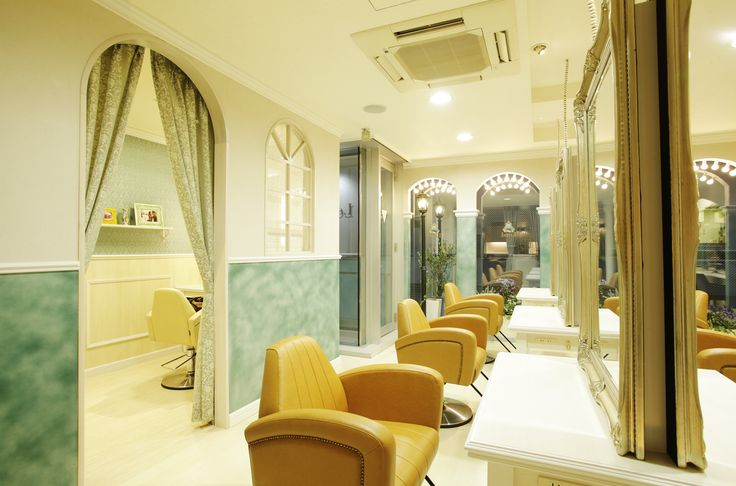 Beauty salon interior design ideas | + hair + space + decor + designs + Tokyo + Japan | Follow us on https://www.facebook.com/TracksGroup <<<【Lond セットエリア】アンティーク 美容室 内装