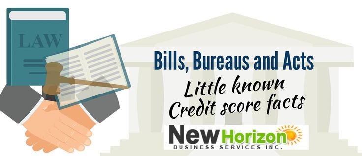 Bill, Bureaus and Acts—little known Credit Score Facts #CreditScore #CreditReport