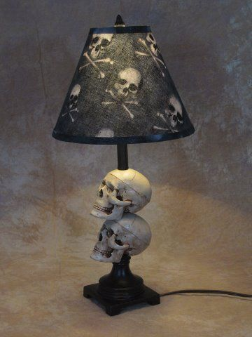 Details About Mini Skull Desk Lamp Bone Shade Halloween Prop Skulls Skull Bedroombedroom Lampsskull Decorskull