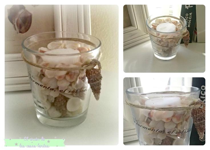 48 mejores im genes sobre decoraciones con conchas en - Decoracion con conchas ...