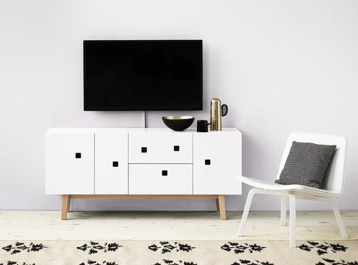 Zweed PEEP M2 Media cabinet. Smart cable management.