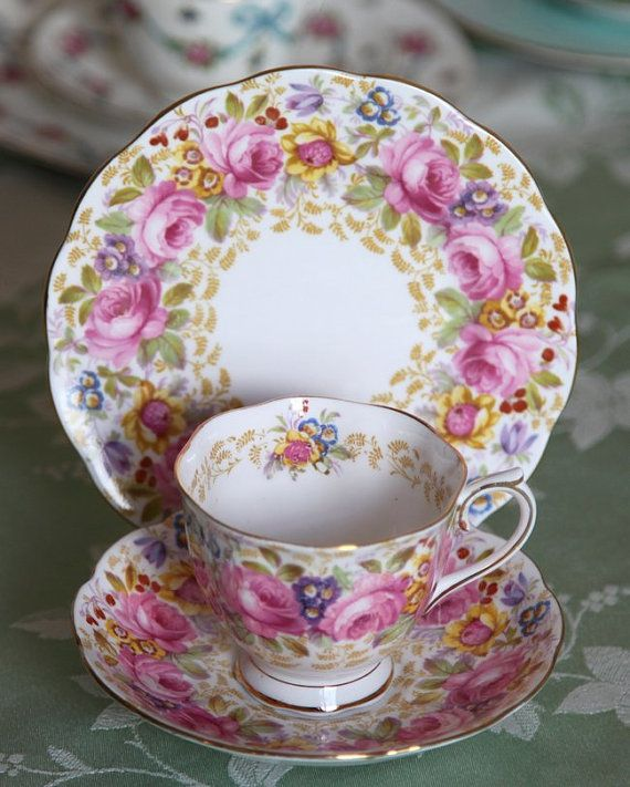 royal albert serena bone china trio teacup saucer u0026 plate no england