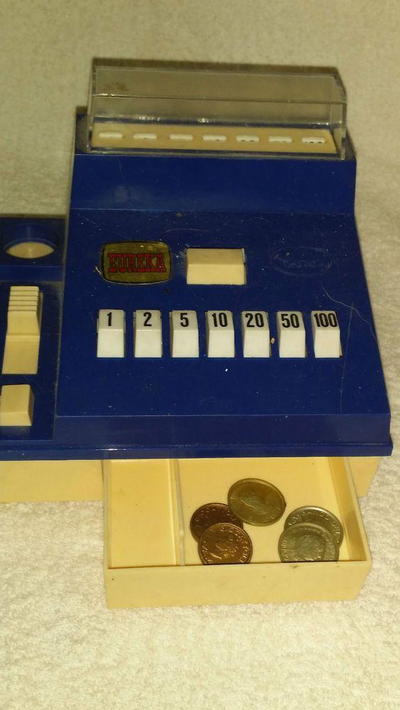 Caja registradora de juguete con monedas incluidas