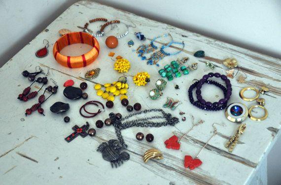 Destash Vintage Jewelry  Jewelery Lot  Boho Style  door BebesBazaar