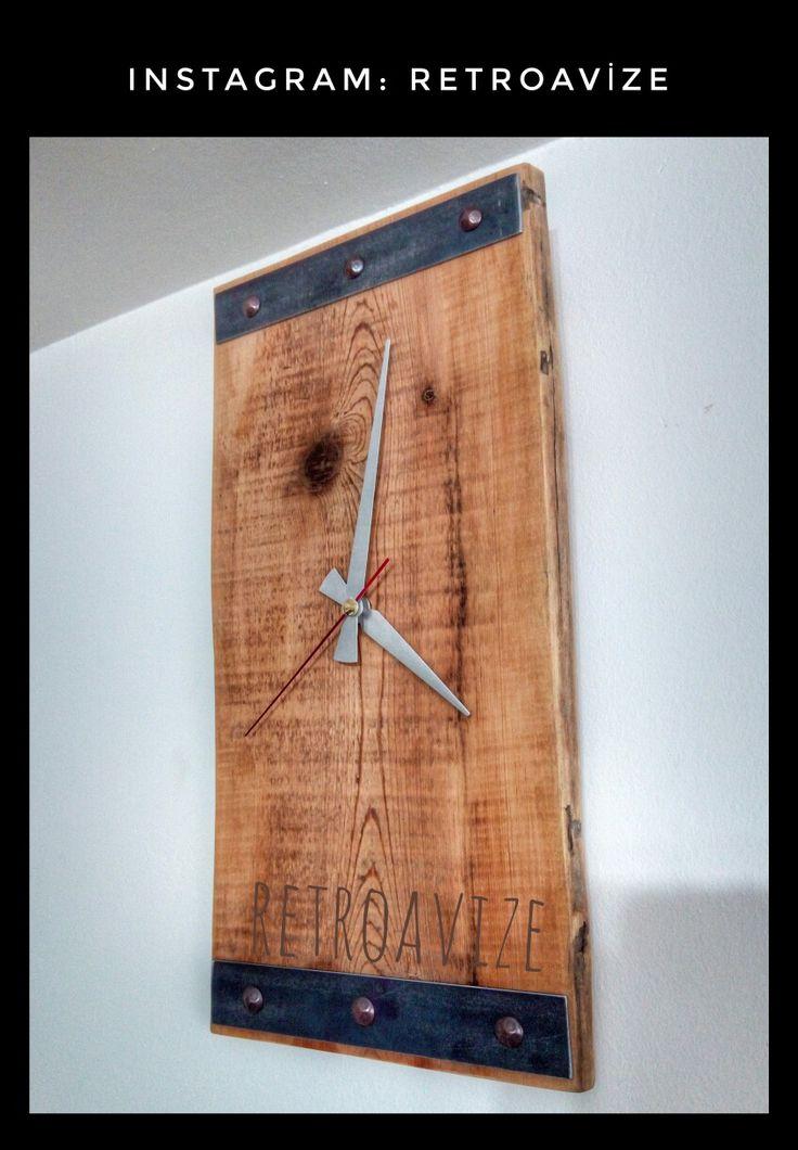 Ahşap saat  Duvar saatleri  Ahşap retro saat  Modern ahşap ev dekorasyonu  Eskitme dekor  Ahşap avize  Halat avize  Daha fazlası için Instagram hesabımız  retroavize