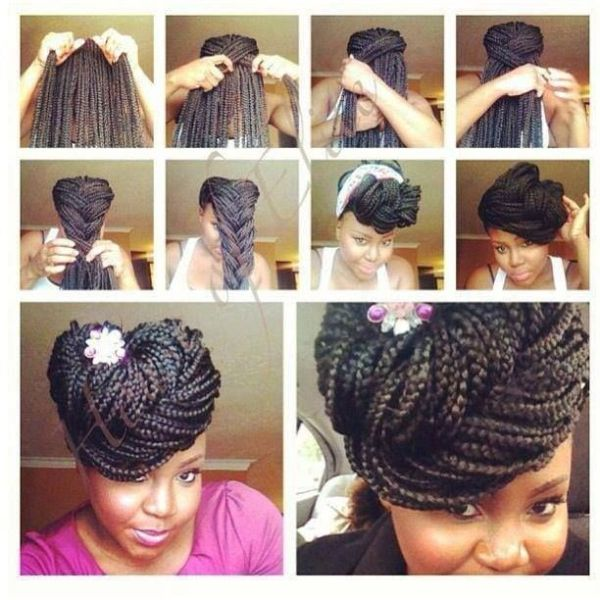 9 Inventive Visual Instructions On How To Style Box Braids