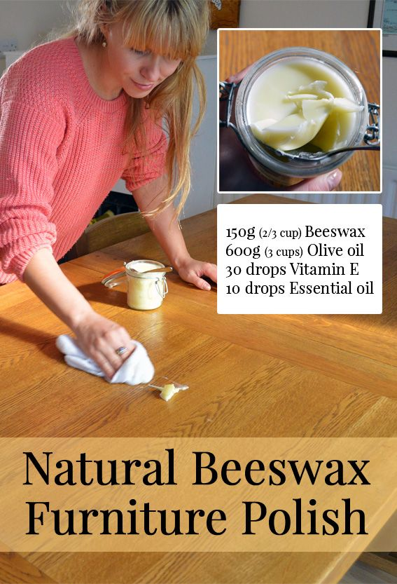 How to make an all-natural Beeswax Furniture Polish using just two main ingredients. It smells of sweet honey and is easily massaged into wooden furniture, ornaments, and kitchenware