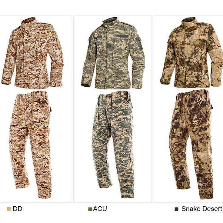 Military Hunting Clothes US Army Tactical Uniform Men Camouflage Suit Military Combat Uniform Set Shirt + Pants ACU Camo Clothin