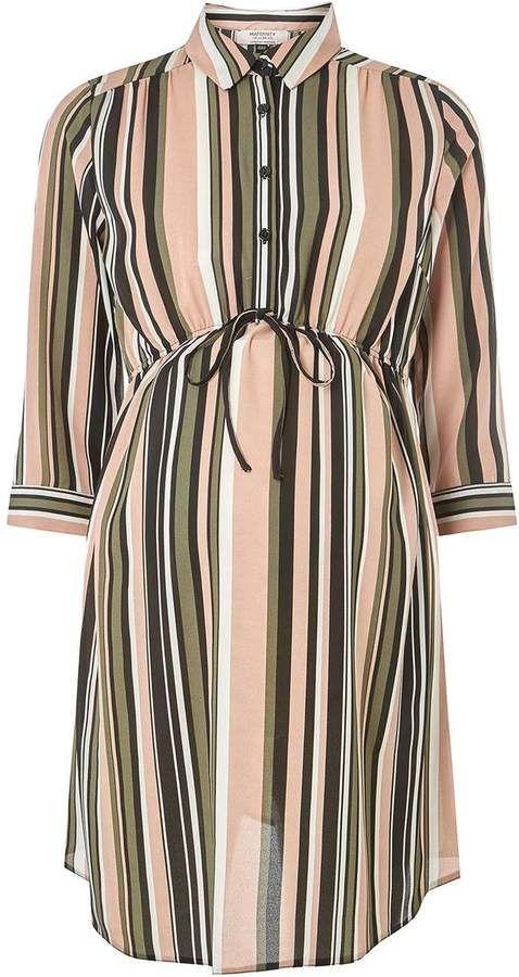 b3d9f1ae74 Dorothy Perkins **Maternity Multi Tie Waist Striped Shirt Dress #ad ...