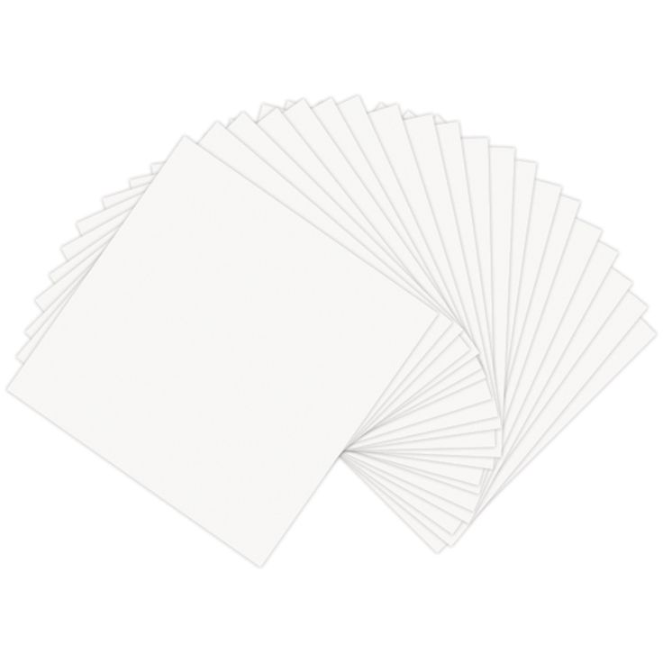 """Sizzix Paper Leather Sheets 6""""x6"""" - White"""