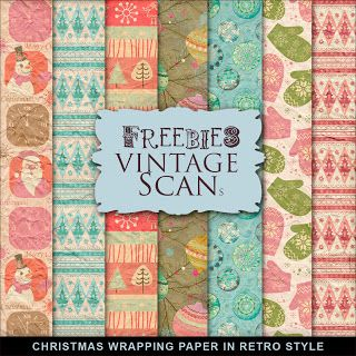 Far Far Hill - Free database of digital illustrations and papers: Freebies Christmas Wrapping Paper