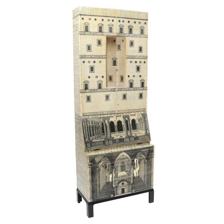 Piero Fornasetti Furniture Rare Piero Fornasetti Cabinet Italy 19511968 Fornasettiu0027s Architettura Based On A Gio Ponti Furniture
