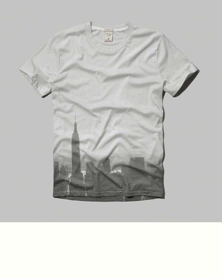 Mens - Photoreal City Graphic Tee | Mens - Sale | eu.Abercrombie.com
