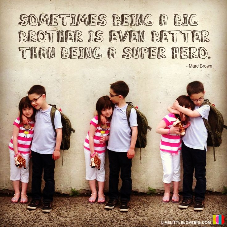 Sometimes being a big brother is even better than being a superhero