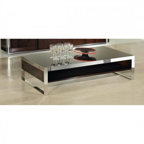 Verona Marble Coffee Table: Contemporary Ebony Lacquer Rectangular Coffee Table Iyo