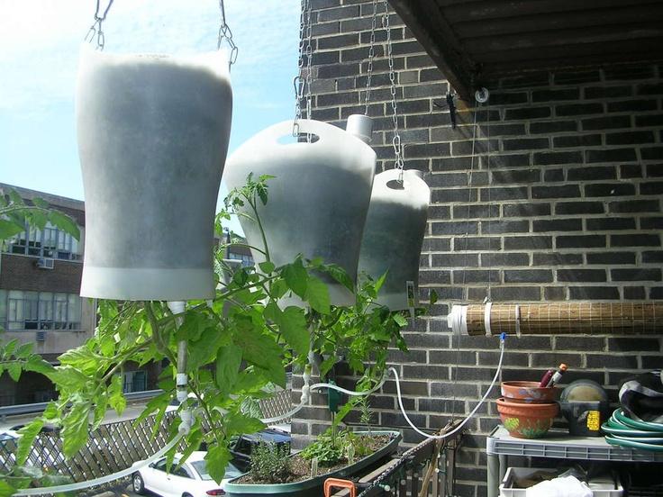 Self watering (wick) upside down planters