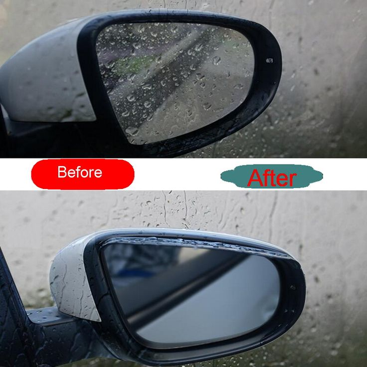 2 Pcs DIY Car Styling ABS plastic Special Reversing mirror Rain eyebrow Cover Case stickers for Mitsubishi Outlander 2013-16