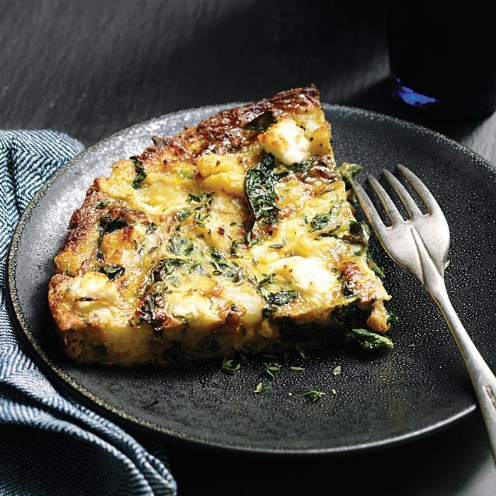 This healthy Cauliflower & Kale Frittata recipe swaps potatoes for low-carb cauliflower. Serve it along with kale (or your favorite greens) for brunch or an easy breakfast-for-dinner.