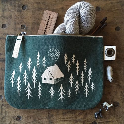Cabin Haberdashery or Project Pouch | perfect for knitting projects! | Loop London