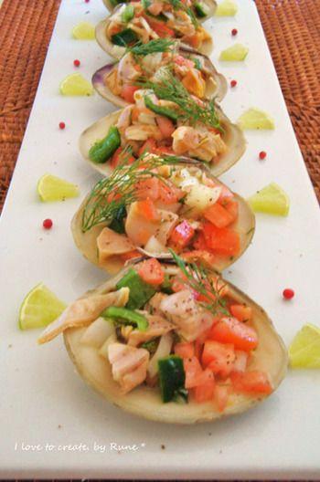 友だちや夫婦でのんびり飲みたいよね♪【簡単おうちバルレシピ】を一挙 ... ハマグリのスパニッシュビネグレサラダ