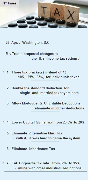 Mr Trump has proposed changes to  the #US income tax system #Funding #Startup #VC #IncomeTax http://arzillion.com/S/1XcmEf