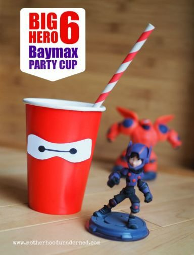 Big Hero 6 Inspired Baymax Party Cup Tutorial