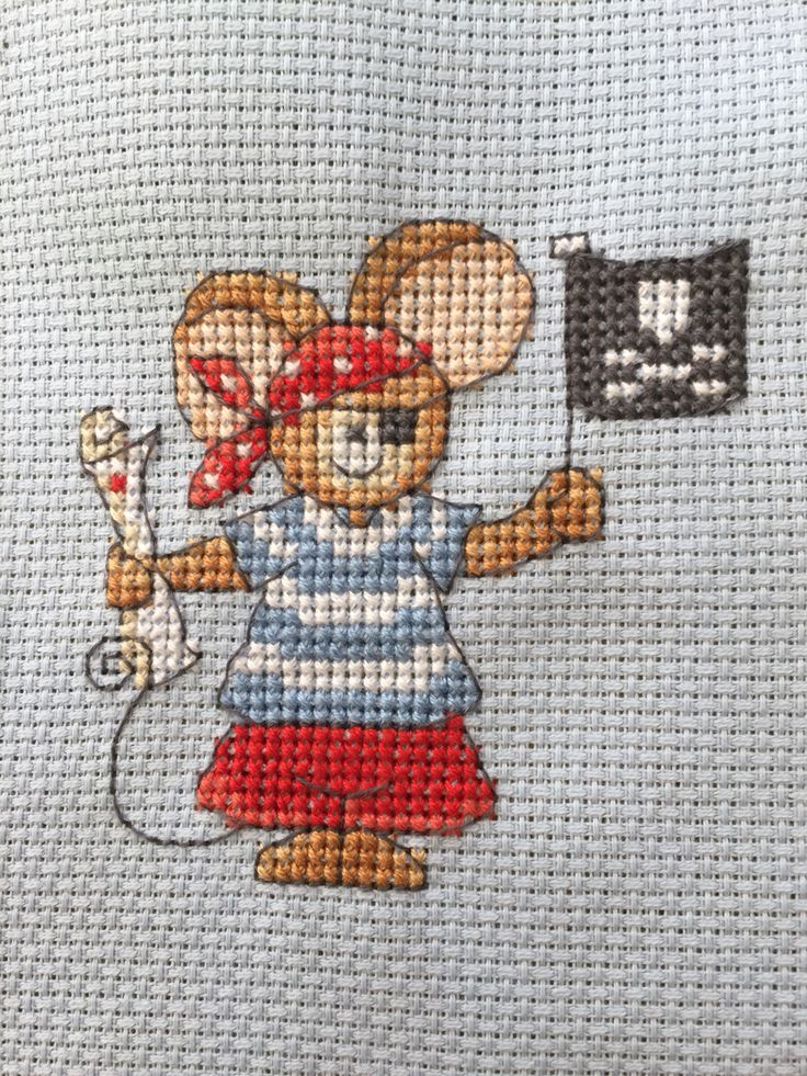 Furry Tales Pirate Mouse The World of Cross Stitching Issue 244 August 2016 Saved