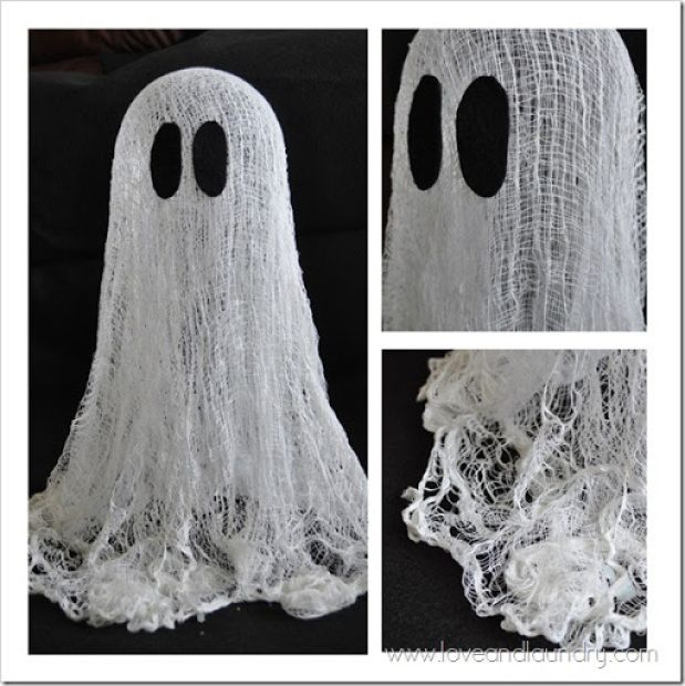 Floating Cheesecloth Ghost by www.loveandlaundry.com