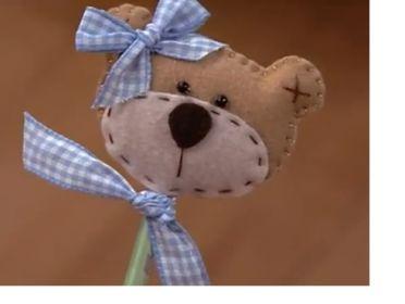felt teddy bear pencil topper
